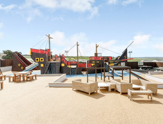 Childrens-pirate-ship-at-Sandymouth-Holiday-Resort