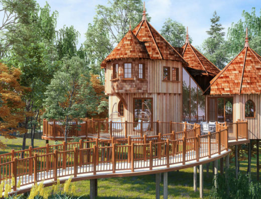 Treehouse-CGI-Woodland-setting-Accommodation
