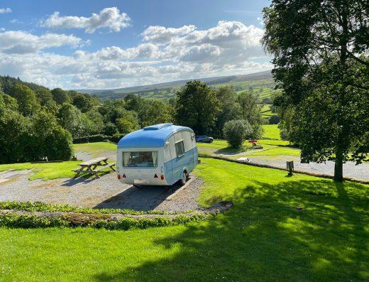Stunning views from touring caravan